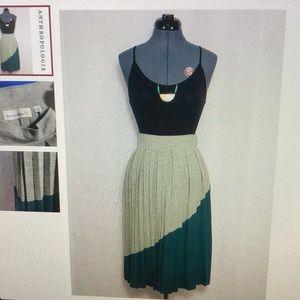 Anthropologie Charlie & Rose Wool Pleated Skirt